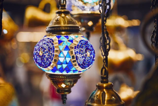 Lamp at souq in Muscat