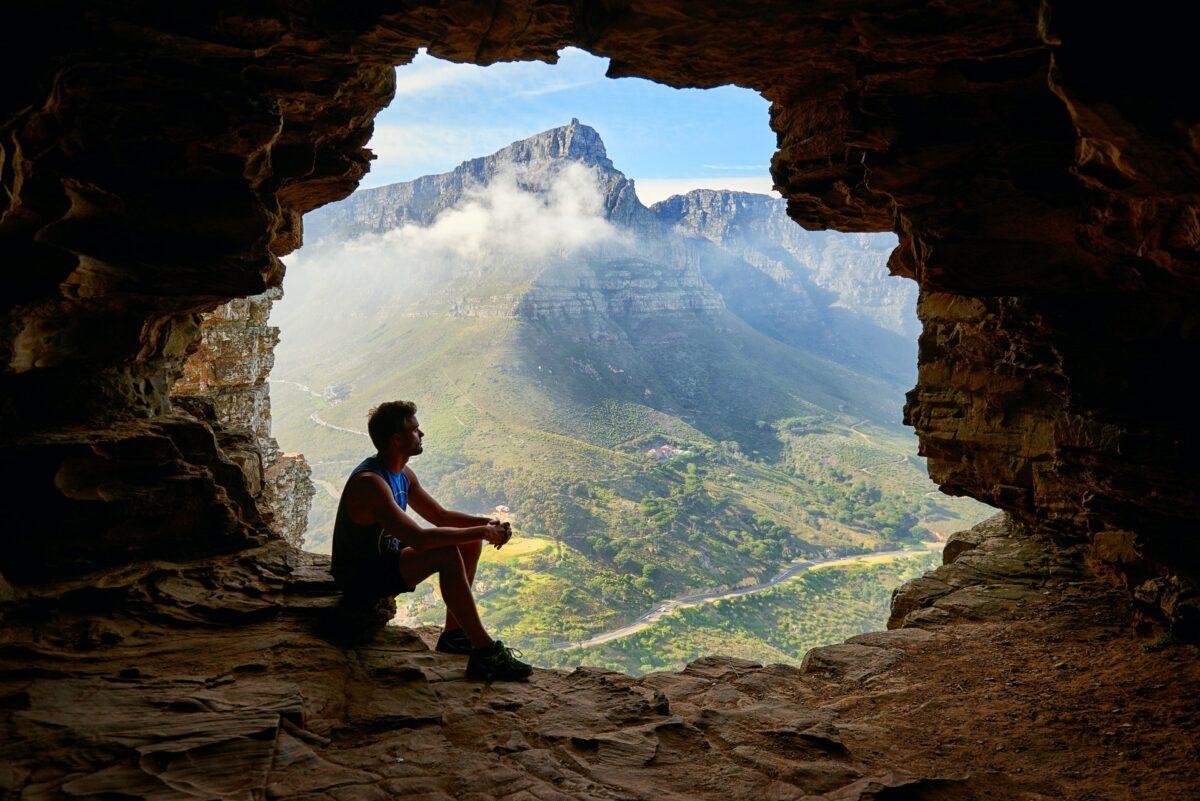 alone in cave