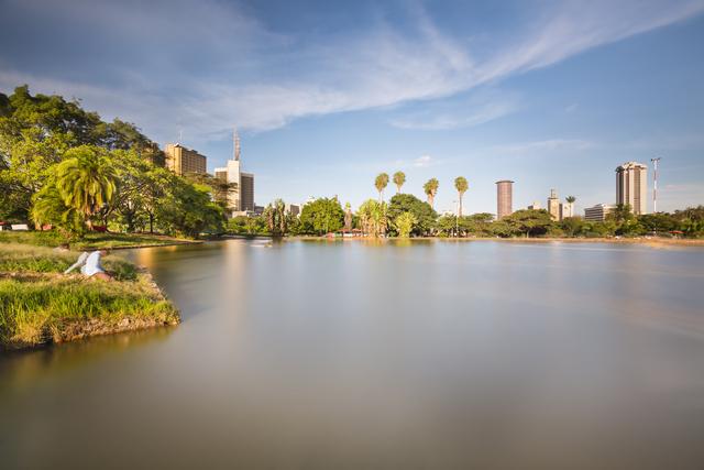 Uhuru Park And Nairobi Skyline, Kenya